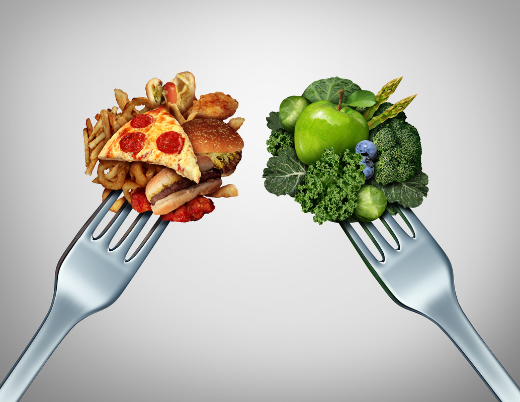 Fast food vs. healthy food